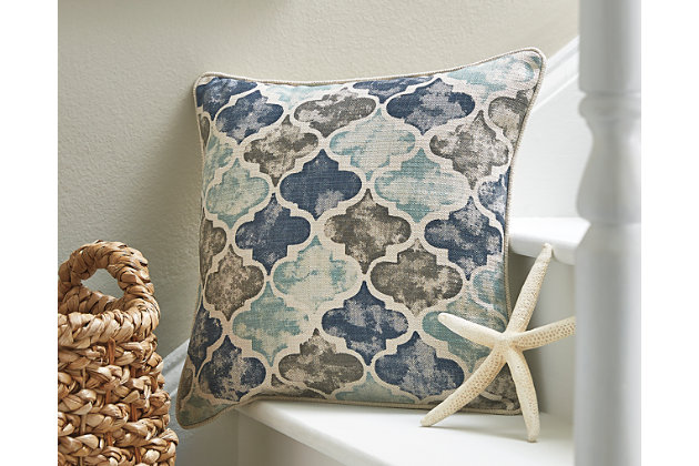 Tiffney Pillow by Ashley HomeStore, Blue & Gray