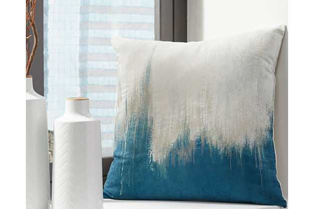 Madalene Pillow by Ashley HomeStore, Teal
