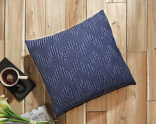 Dunford Pillow, Navy, rollover