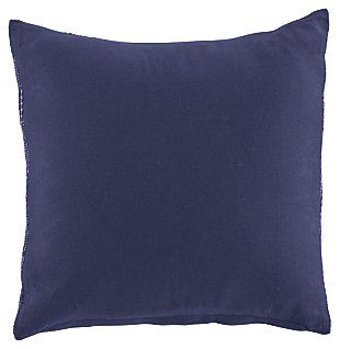 Dunford Pillow, Navy, large