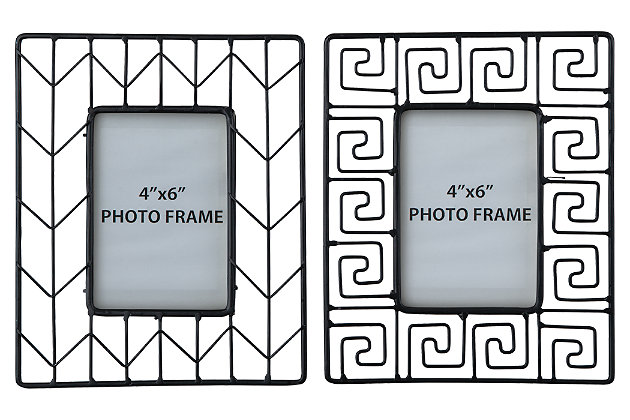 Achava Photo Frame (Set of 2) by Ashley HomeStore, Black