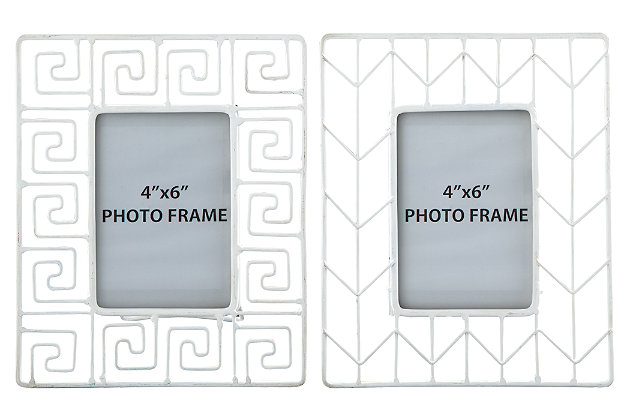 Achava Photo Frame (Set of 2) by Ashley HomeStore, White