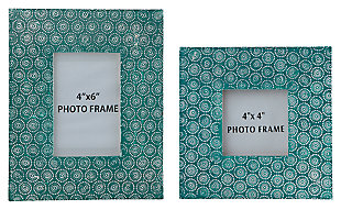Bansi Photo Frame (Set of 2), Teal, large