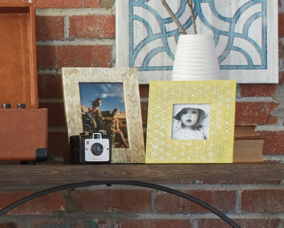 Ashley Bansi Photo Frame (Set of 2), Yellow