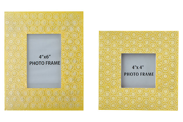 Bansi Photo Frame (Set of 2), Yellow, large