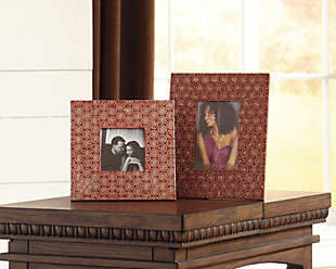 Bansi Photo Frame (Set of 2), Orange, rollover