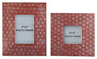 Bansi Photo Frame (Set of 2), Orange, large