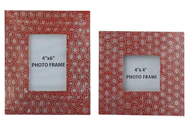 Bansi Photo Frame (Set of 2), Orange, large