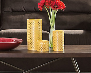 Caelan Candle Holder (Set of 3), Yellow, rollover