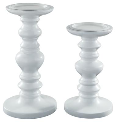 Dallin Candle Holder (Set of 2), White, large