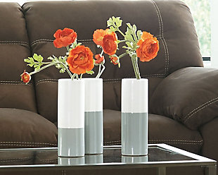 Dalal Vase (Set of 3), Gray/White, large