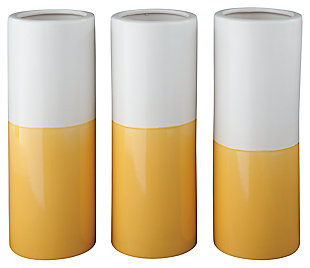 Dalal Vase (Set of 3), Yellow/White, large