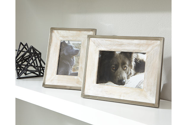 Tan & Silver Finish Kadija Photo Frame (Set of 2) by Ashley HomeStore