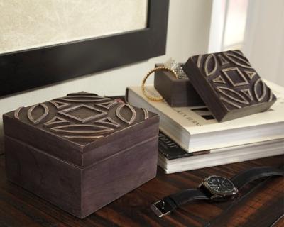 Ashley Marquise Box (Set of 2), Antique Black