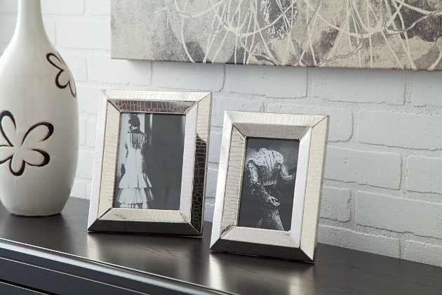 Nickel Finish Keyon Photo Frame (Set of 2) by Ashley HomeStore