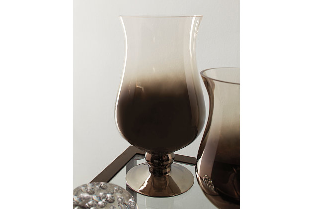 Devika Vase by Ashley HomeStore, Silver Finish
