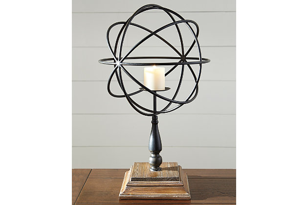 Devlin Candle Holder by Ashley HomeStore, Bronze Finish