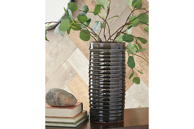 Derry Vase by Ashley HomeStore, Gray
