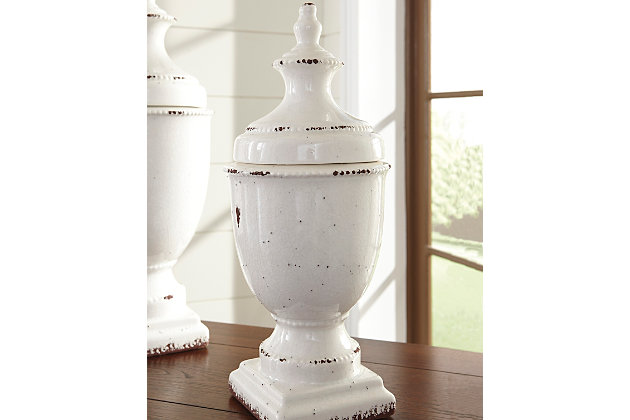 Devorit Jar by Ashley HomeStore, White