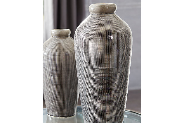 Dilanne Vase by Ashley HomeStore, Gray
