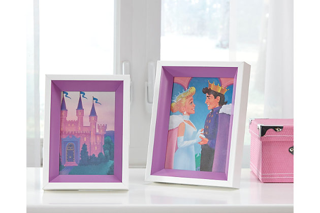 Obie Photo Frame (Set of 2), White/Purple, large