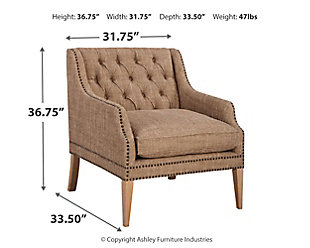 Trivia Accent Chair, Oatmeal, large