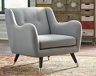 Menga Accent Chair, Ash, rollover
