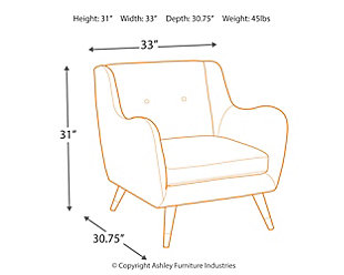 Menga Accent Chair, Ash, large