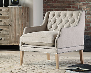Trivia Accent Chair, Bone, rollover