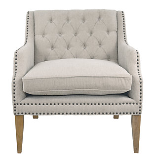 Trivia Accent Chair, Bone, large