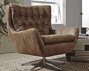 Velburg Accent Chair, Brown, rollover
