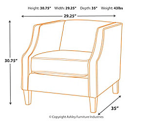 Alsatin Accent Chair, , large