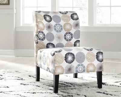 Triptis Accent Chair, Gray/Tan, large