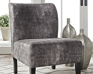 Triptis Accent Chair, Charcoal, rollover