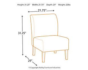 Triptis Accent Chair, Moonstone, large