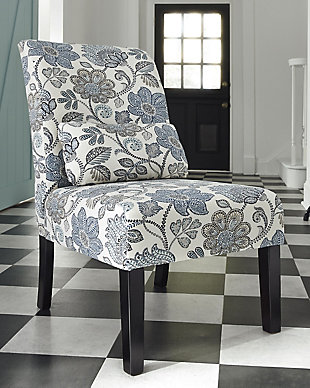 Sesto Accent Chair, Denim, rollover