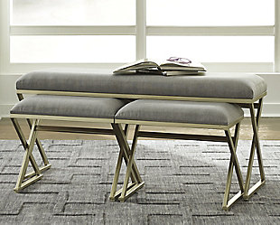 Emanita Accent Bench (Set of 3), , rollover