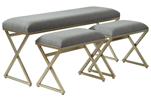 Emanita Accent Bench (Set of 3), , large