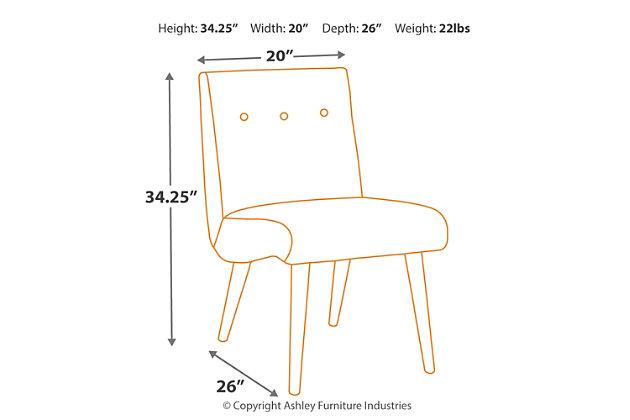 Zittan Accent Chair, Papaya, large