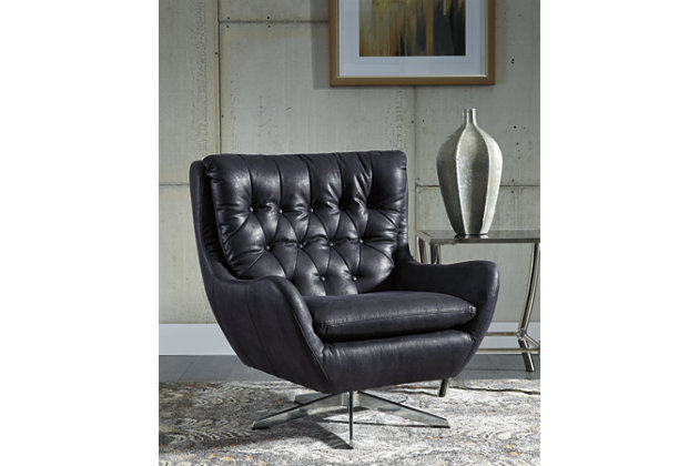 Velburg Accent Chair, Black, large
