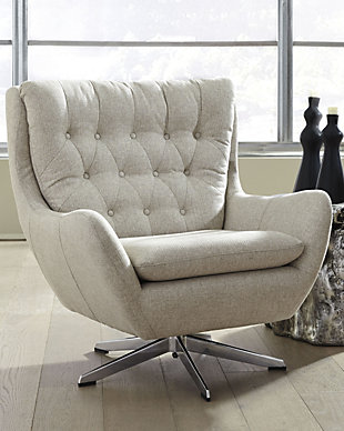 Velburg Accent Chair, Cream, rollover