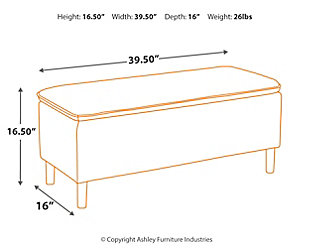 Kaviton Accent Storage Bench, , large
