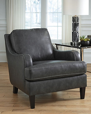 Tirolo Accent Chair, Dark Gray, rollover