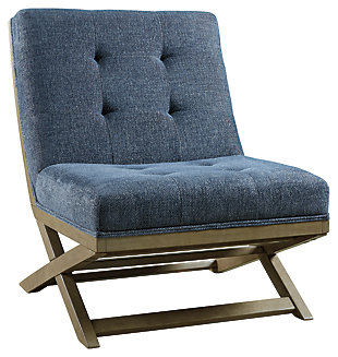 Sidewinder Accent Chair, Blue, large