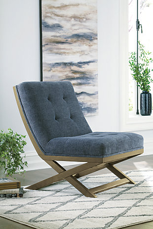Sidewinder Accent Chair, Blue, rollover