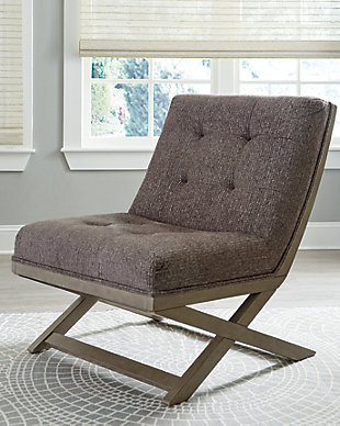 Sidewinder Accent Chair, Taupe, rollover