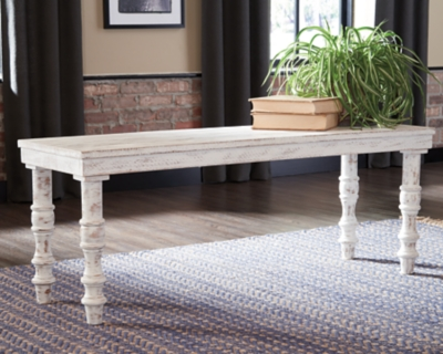 Dannerville Accent Bench, White, large