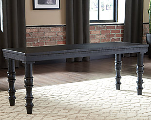Dannerville Accent Bench, Antique Black, rollover