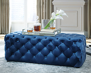 Lister Accent Ottoman, Navy, rollover