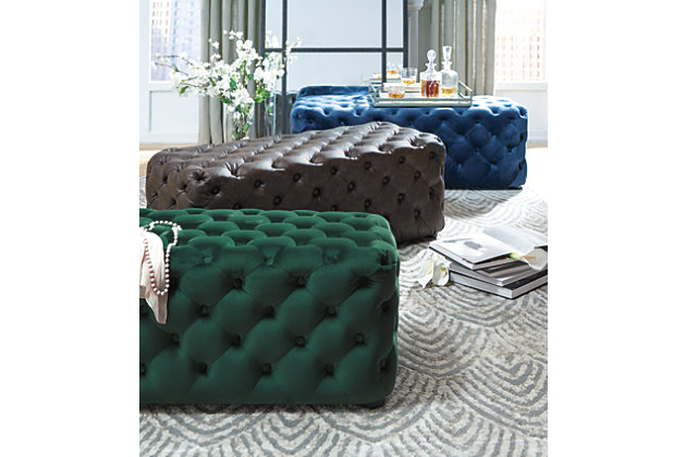 Lister Accent Ottoman, Navy, large